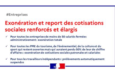 Éxonération-report-cotisations